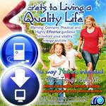 Simple, safe and Natural guidance in an MP3 track to motivate you to achieve an optimum Quality in your life